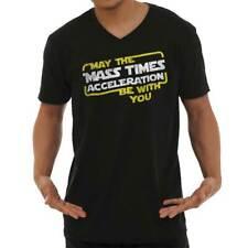 Mass Times Acceleration Star Galaxy Space V-Neck Tees Shirts Tshirt T-Shirt