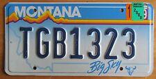 Montana 2000 VANITY License Plate TGB1323