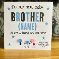 New Baby Brother Card Hooray! You Have A New Baby Brother Iconic Collection New Baby Boy//New Sibling//Pregnancy Announcement Card