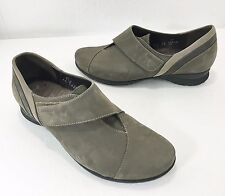 Mephisto Womens 7 Air-Jet Luce Gray Suede Walking Shoes Velcro Closure