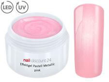 UV LED Farb Gel Pastell METALLIC PINK Effekt French Color Modellage NailArt Rosa