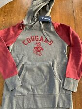 Fanatics WSU Cougars Hoodie Womens Medium Crimson & Gray ~ NEW w Tags