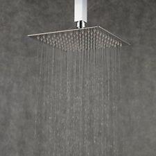 "8"" Square Rain Shower Head Rainfall Bathroom Stainless Steel Top Sprayer Mixer"