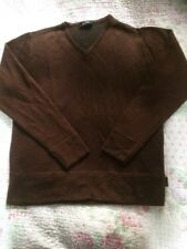 Luxe VERSACE CLASSIC Rich Chocolate Brown Sparkly Jumper With Wool-size 14.
