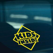 I bambini all'interno s2 bambini a bordo di avvertimento divertente auto, FINESTRA SEGNO ADESIVO VINILE