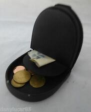 Porta monete banconote tacco nero in similpelle 2 Tasche - Il bordo è usurato