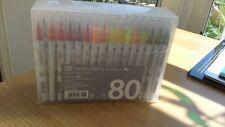 Kuretake ZIG Clean Color Real Brush Pens - 80 colors set