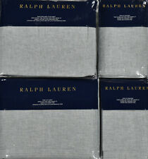 Ralph Lauren Home 6 PC Cary King Fitted Flat Sheet Set & 4 Pillowcases New $630
