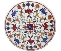 18 Inches Marble Coffee Table Top Round Marquetry Art Stone Patio Table Top