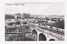 Rppc,Valetta,Malta,Entran ce to Valetta,Bridge,Buses,c.19 50s