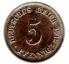 5 Pfennig 1912 E Kaiserreich - Jäger-Nr. 12 - in vorzüglich