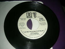 """PROMO 45 Ray Charles """"Look What They've Done To My Song Ma"""" abc 1972 NM"""