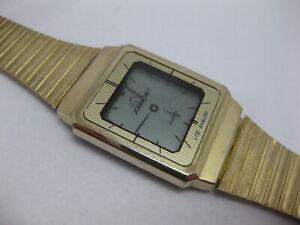 Jordache LCD Analog Watch Vintage Gold Tone LCD Quartz Watch WORKS #2