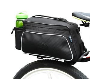 Roswheel quality 10ltr rear bike rack bag black cycle pannier UK 14815 new