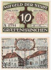 Germany 10 Pfennig 1921 Notgeld Graefenhainichen A UNC Banknote