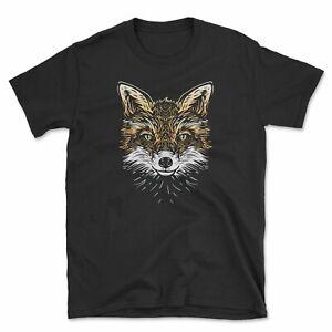 Fox Illustration T-Shirt | Line Drawing Woodland Animal Lover Gift | Unisex