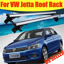 "For VW Jetta 2006-2017 48""Top Luggage Cross Bar Roof Rack Carrier w/3 Kind Clamp"