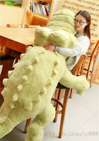 New 170cm Giant Plush Crocodile Stuffed Animal Doll Huge Cushion Pillow Toy Gift