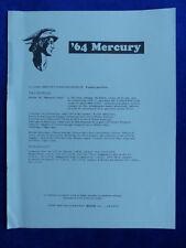 FORD Mercury 1964 Parklane v8 Marauder super-prospetto brochure Belgio 1964