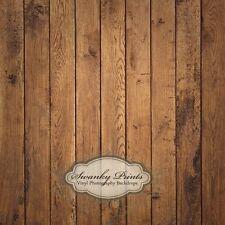5' x 5'  Foot Brown Raw Wood Floordrop Vinyl Photography Backdrop Swanky Prints