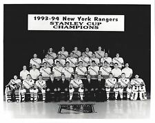 NEW YORK RANGERS 1993-94 TEAM NY 8X10 PHOTO HOCKEY PICTURE STANLEY CUP CHAMPIONS