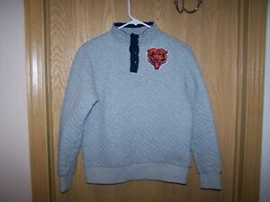 G-III Chicago Bears Women's  Sweater, top , Jacket  - 4 SNAP PULLOVER- Gray  NFL