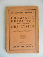 Capitan & Peyrony HUMANIDAD Primitive En La Región Las Les Eyzies Stock 1924