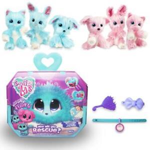 Scruff A Luvs Little Live Girls Plush Toys Mystery Rescue Bathe Pets Kids Gifts