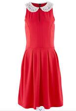 Splendide élégant robe avec perles bordure taille 32/34