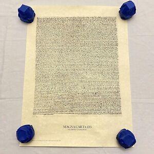 "King John's Magna Carta 1215 Salisbury Cathedral Print Replica 1983, 23.5""x17.5"""