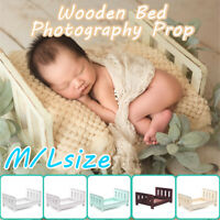 Newborn Wood Bed Photo Prop Shoot Background Cot Studio Props Baby Photography!