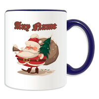 Personalised Gift Santa Christmas Present Mug Money Box Cup Tea Coffee Xmas Sack