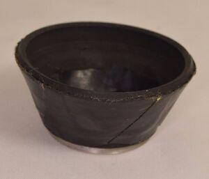 46mm Rubber/Metal Screw-On Lens Hood vintage with tape - worldwide