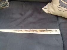 scrimshaw. swordfish bill