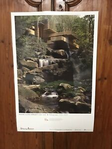 Rare Museum Archive Poster Artist Heritage Print Frank Lloyd Wright Fallinqwater