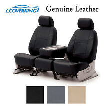Coverking Custom Seat Covers Genuine Leather Front Row - 3 Color Options