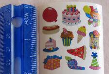 Sandylion PARTY FOOD & FAVORS - 1 Square MINI Stickers VINTAGE DISCONTINUED'
