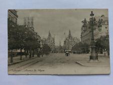 Antwerp (Anvers) Belgium Vintage B&W Postcard 1906 Avenue de Keyser