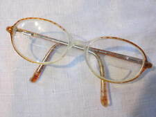 VINTAGE WOMENS BROWN PLASTIC OVAL FRAME EYEGLASSES 1970'S STYLE 51/16/130