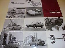 porsche 924 press kit cartella con foto,descrizioni,disegni,dati tecnici