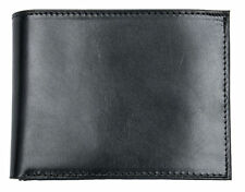 Men's Italian black strong quality genuine leather wallet. Worldwide Shipping.