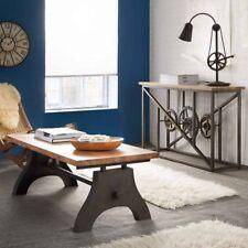 Rectangular Coffee Table Eva Range Made From Metal and Wood EV11