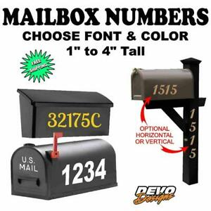 Mailbox Numbers Vinyl Decal Sticker Custom House Numbers - Set of 2 (1 per side)