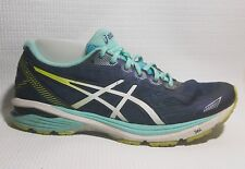 Asics T6A8N GT‑1000 Running Shoes Womens 11 M Blue White Green Walking Sneakers