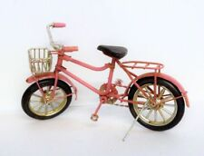 1:12 Dollhouse Bicicletta in metallo rosa Pink bike / bicycle with basket