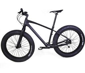 """26er Carbon Fat Bike Full bicycle Snow Frame Fork Wheelset UD Matt Shimano 21"""""""