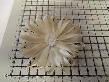 UK-Large, Cream, Satin Ribbon Flowers- Appliques,Trimmings ,Wedding 90mm x 1