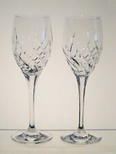 """PREVIEW MIKASA Wine Glasses 8 1/4"""", SET of SIX, Cut Swirl on the Bowl, Hex Stem"""