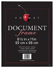 "MCS  8.5x11"" Format Frame, Black for Document, Photos, Diplomas"