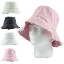 9128807d5a5fa Mens Womens Painter Artist Floppy Cotton Bucket Hat Visor Sun Farmer  Vintage Cap